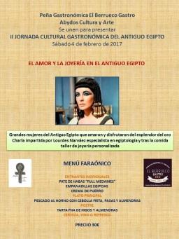 II JORNADA CULTURAL GASTRONÓMICA DEL ANTIGUO EGIPTO SABADO 4 DE FEBRERO